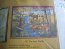 Creative Circle Autumn Woods Quilted Embroidery Kit 18x24 Inches Deer, Moose