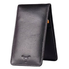 Hidekraft Unisex Genuine Leather Card Holder, CHBLPU0077, Black