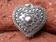 HEART SHAPED BALINESE PRAYER BOX 925 SILVER PENDANT SILVERANDSOUL JEWELLERY