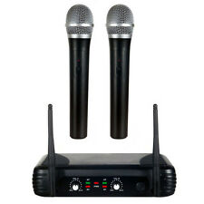 Radio MICROPHONE 2 canaux set vhf main Micro wireless linguistiques & CHANT DJ dynamique