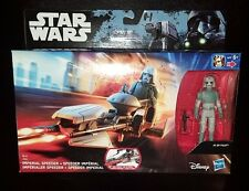 STAR WARS IMPERIAL SPEEDER + AT-DP PILOT ROGUE ONE/REBELS FIGURE + BIKE SET NEW