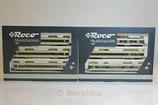 H0 1:87 Roco Exclusive 43054 + 43053 Transalpin ÖBB Ho trenes escala LIKE NEW