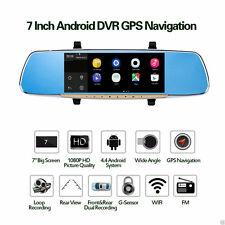 """7"""" Touch Screen Car Rearview Mirror + DVR FM Transmitter Android 4.4 16G Flash"""