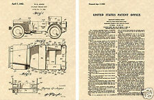 JEEP WILLYS US PATENT GP GPW Art Print READY TO FRAME!!!! World War II
