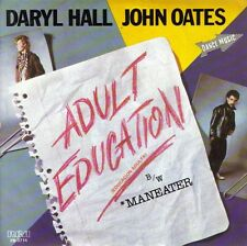"DARYL HALL AND JOHN OATES- ADULT EDUCATION + MANEATER 7"" SINGLE PROMO SPAIN 1984"