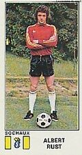 N°318 ALBERT RUST # FC.SOCHAUX STICKER PANINI FOOTBALL 1977