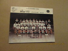 IHL Columbus Owls Vintage 1974-75 WISE Potato Chips Colored Team Hockey Photo