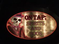 """Halloween """"On Tap: Spirits and BOOS"""" Lighted Sign Skeleton Decoration"""
