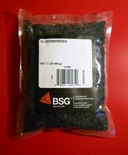 ELDERBERRIES 1LB DRIED -SUPERB ELDERBERRY WINE -ENHANCES COLOR COMPLEXITY POUNDS