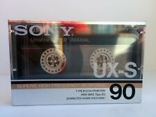 SONY UX-S 90 BLANK AUDIO CASSETTE TAPE NEW RARE 1986 YEAR USA MADE