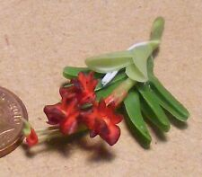 1:12 Scale Hand Made Red Orchid Dolls House Miniature Flower Garden Accessory 1s