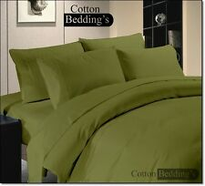 Fitted and Flat Sheet in 1000 TC 100% Egyptian Cotton Hotel Luxury Soft Beddings