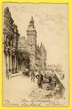 cpa FRANCE Superbe EAU FORTE ETCHING de PARIS en 1911 LA CONCIERGERIE