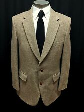 vintage mens beige brown PLAYBOY blazer jacket tweed wool sport suit coat 42 R