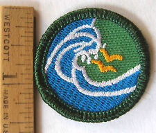 Girl Scout 2001-2011 Junior WATER FUN BADGE Swimmer Ocean Wave Sea Gulls Patch
