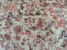 WILD FLOWERS  (F) 1.00 METRE by LIBERTY  CREAM BACKGROUND on TANA LAWN COTTON