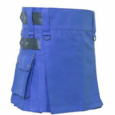 Ladies Scottish Kilt highland Women blur cotton Utility Adult Cargo