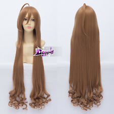 100cm Flaxen Long Wavy Hair for Toradora! Aisaka Taiga Anime Cosplay Wig + Cap