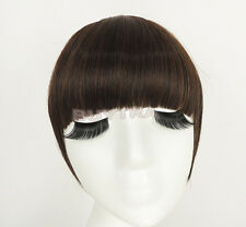 FadClassic Fringe Clip In On Bangs Straight Hair brown black WIG faux hair JX