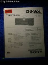 Sony Service Manual CFD 565L Cassette Corder (#4303)