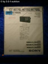 Sony Service Manual ICF M770L /M770S /M770SL PLL Synthesized Radio (#5497)
