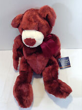 "16"" Tall Raspberry Bear by The Heritage Collection Ganz Brothers"
