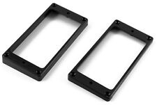 HUMBUCKER PICKUP MOUNTING RING SET (BLACK) 1 LOW & 1 HIGH *FITS MOST GUITARS*