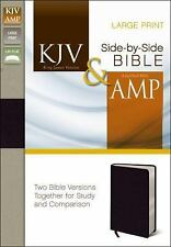 KING JAMES VERSION AND AMPLIFIED SIDE-BY-SIDE BIBLE NEW PAPERBACK BOOK