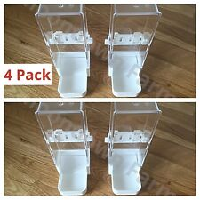 4x Bird Feeder/Water Drinker Seed Clipper Fountain Cage Parrot Cockatiel Finches