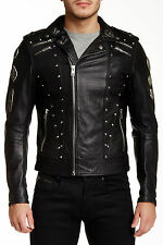 DIESEL L-GORDIAS BLACK LEATHER JACKET SIZE M 100% AUTHENTIC