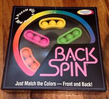 Rare Vintage! Back Spin Hand-Held Puzzle Brain Teaser Game Binary Arts