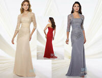 Long Jacket Bridesmaid Dress Party Formal Wedding Evening Prom Dresses Ball Gown
