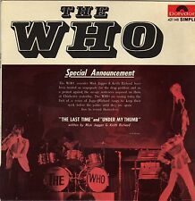 """THE WHO THE LAST TIME / UNDER MY THUMB FRENCH 45 PS 7"""""""