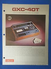 AKAI GX-C40T CASSETTE  SALES BROCHURE ORIGINAL FACTORY ISSUE THE REAL THING
