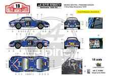 [FFSMC Productions] Decals 1/18 Alpine A110 1600SC Michèle Mouton, MC '76