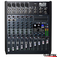 Alto 802 Band Mixer 8 Channel  DSP Effects USB Professional Live Studio UK