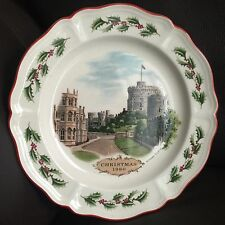"Wedgwood Queen Ware Christmas 1980 ""Windsor Castle"" Limited Edition Plate"