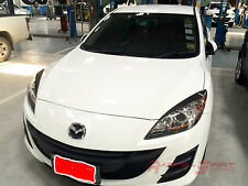 UNIQUE REAL 3D GLOSSY CARBON FIBER EYEBROWS FOR 09-13 MAZDA3 BL MAZDASPEED3 JDM