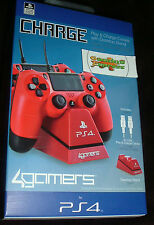 Officially SONY Licensed Dual Charge 'n' Stand RED Playstation  4 PS4 NEW SEALED