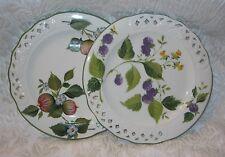 "Set of 2 ~ Italian BRUNELLI Decorative Salad Plates BNI1 ~ 8.25"""