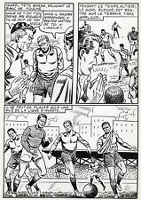 FINALE DE COUPE FOOTBALL (ROBERT HUGUES) PLANCHE ORIGINALE PILAR SANTOS PAGE 35