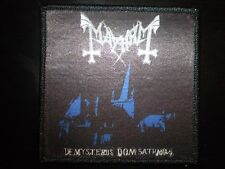 Mayhem - De Mysteriis Dom Sathanas Album Art Patch DARK THRONE NOCTURNUS TAAKE