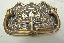 DECO cabinet handles solid brass furniture antiques vintage age old style 95 mm