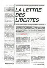 La lettre des libertés N°4 1989 homosexualité gay LGBT