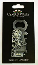 Wales Design Pewter FRIDGE MAGNET / BOTTLE OPENER, Welsh, Cymru