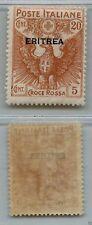 ERITREA - 1916 - Croce Rossa 20+5 cent (44) - MH