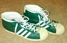 RARE Men's Adidas High Top Vintage 2004, Green Leather, Size 13, No Box