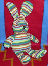 Rainbow Sock Bunny Rabbit Plush Stuffed Animal Stripe Toy