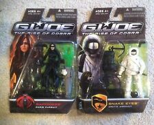 RARE G.I.Joe Rise of Cobra Baroness (Paris Pursuit) Snake Eyes (ArcticAssault)
