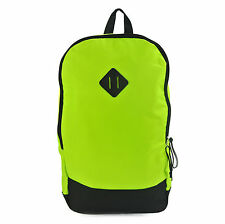 Neon Yellow Hi-vis School College or Cycling Rucksack Unisex Bag
